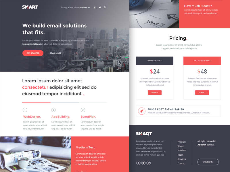 Freebie Psd  Smart  Email  Newsletter Html Template   Email
