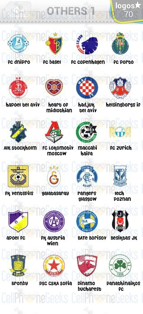 Level 7 Logo Quiz Football Clubs Others 1 Answers Logo Quiz Football Club Logo Quiz Answers