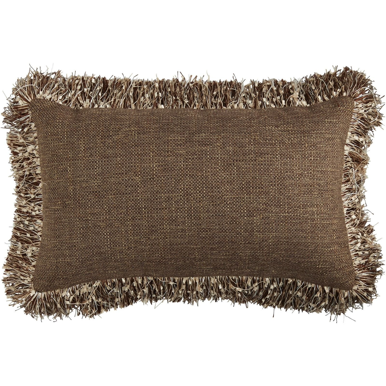 There's a party on your sofa, and our pillow is the life of it. Celebrate softness and comfort in a shimmering brown with flashy fringe. This pillow makes your sofa the perfect place to crash for a pizza party, movie marathon or cozy catnap.