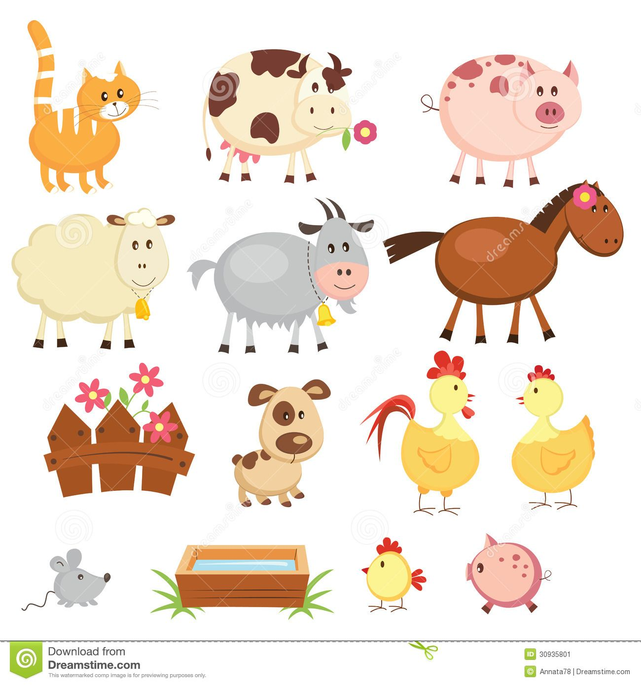 Farm Animal Cartoon Pictures Google Haku Farm Animals Animal Clipart Free Cartoon Animals