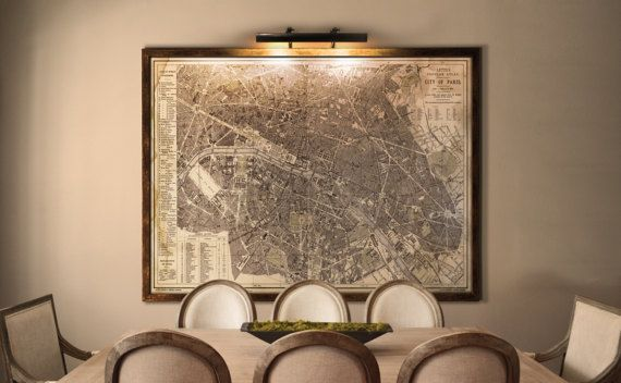 Vintage Paris Map Circa Paris Map Very Similar To - Restoration hardware paris map