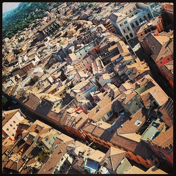 Panorama of Bologna from the Asinelli Tower - Instagram by @NonSoloTuristi