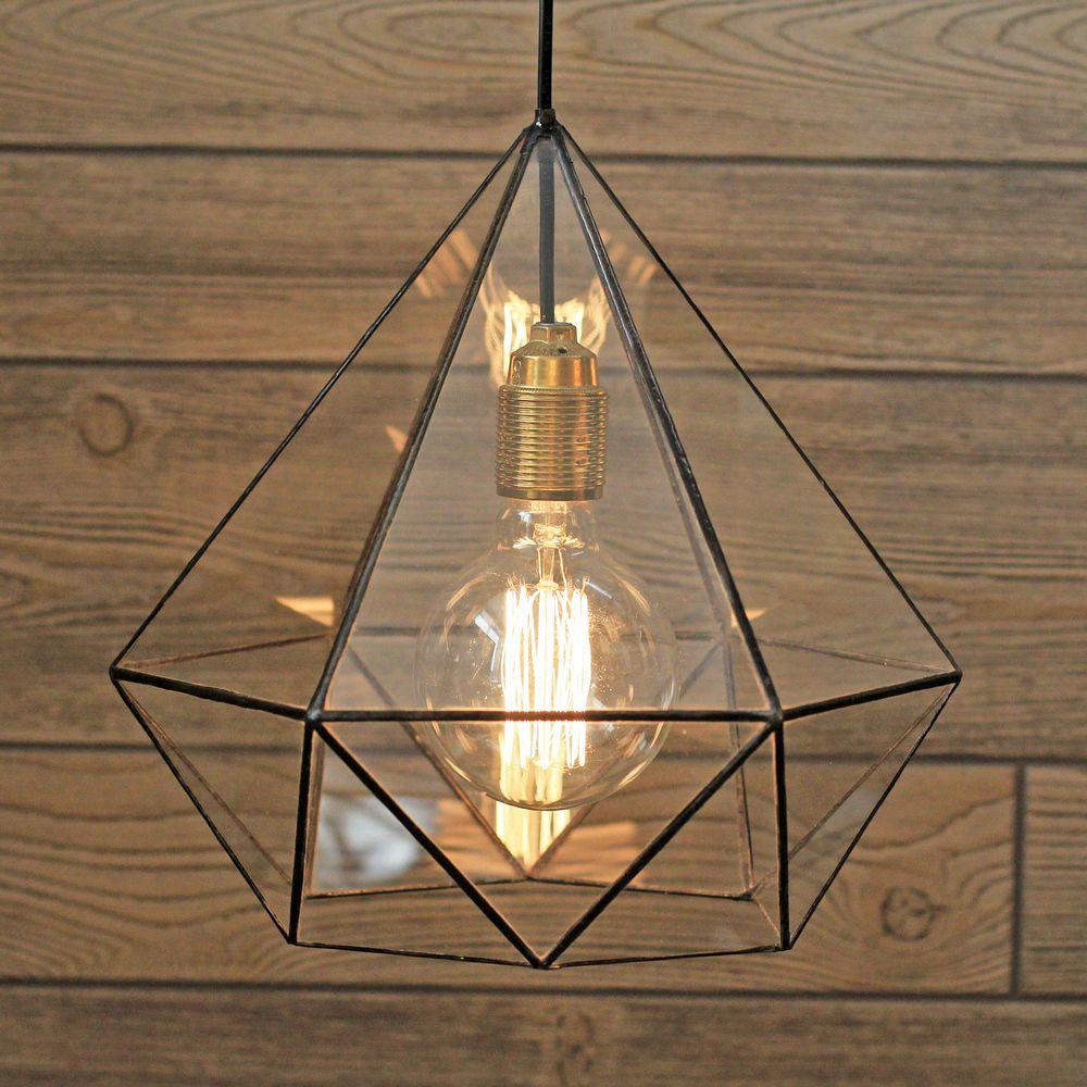 Kitchen Flower Geometric Glass Chandelier / Warm Vintage Bulb ...
