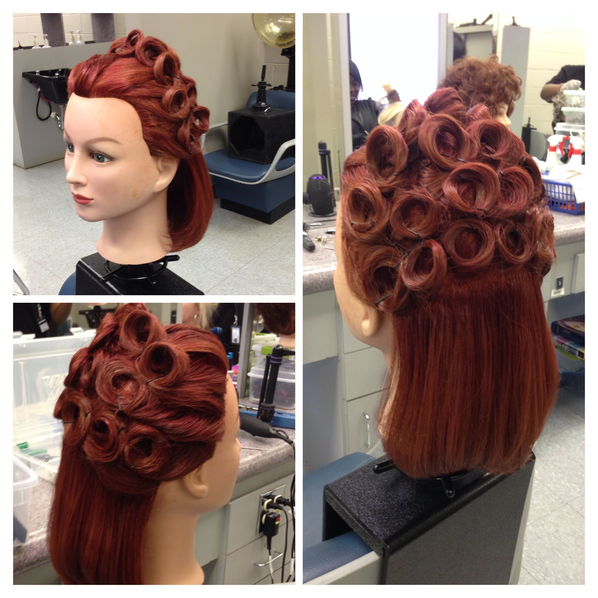 pin curls mannequin styles