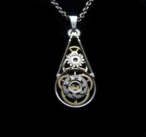 Clockwork Pendant Obelisk Elegant Teardrop by amechanicalmind, $39.00
