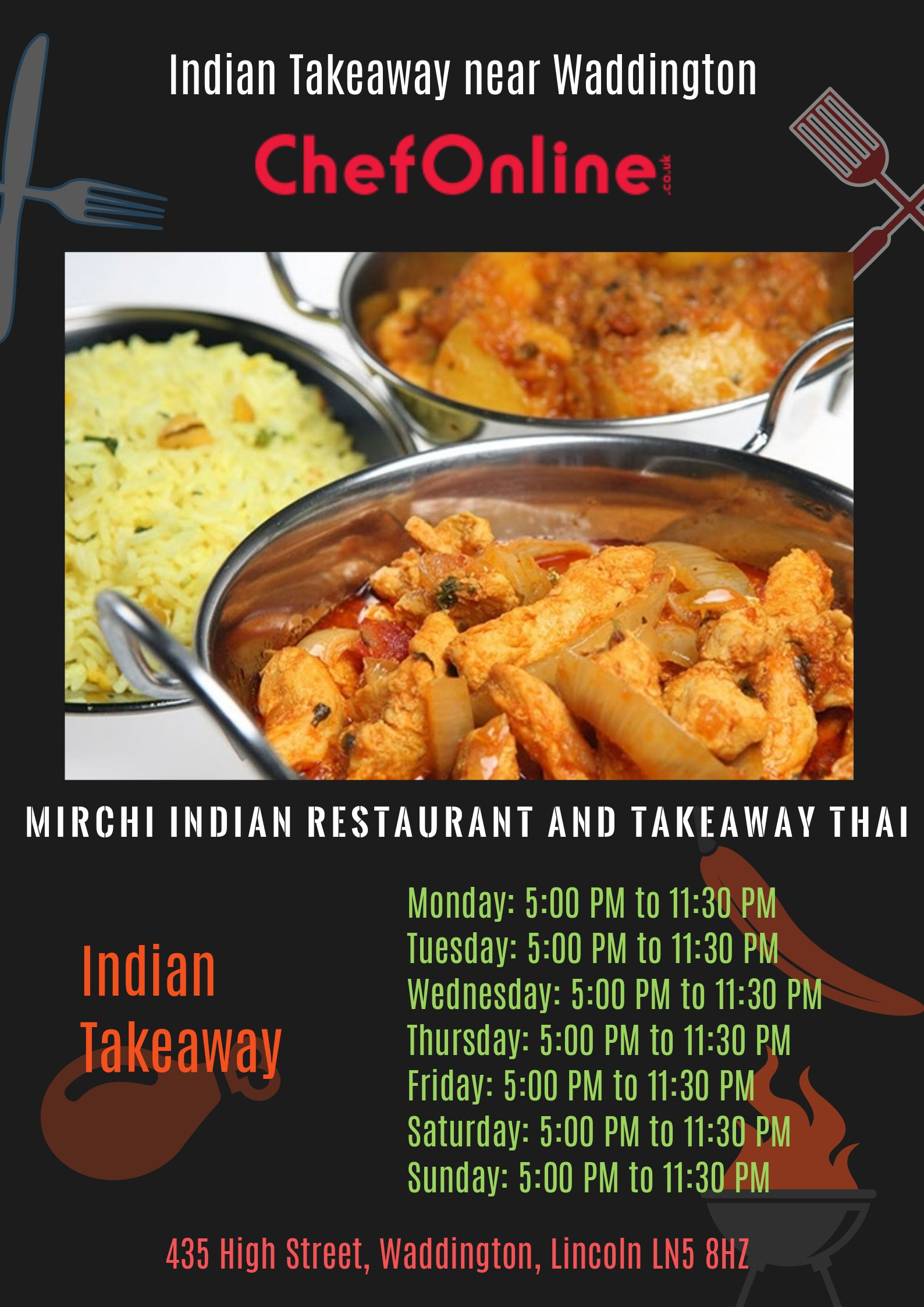 Indian takeaway near waddington mirchi indian restaurant