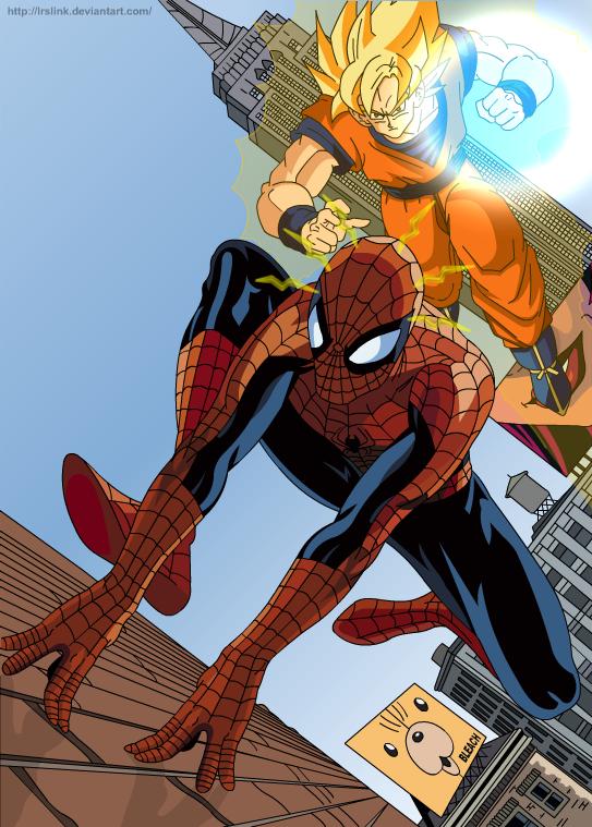 Spider man vs Goku by lrslink deviantart com on @DeviantArt