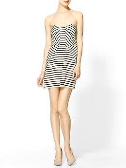 7bc1947ddd8 black and white Parker Strapless Stripe Dress