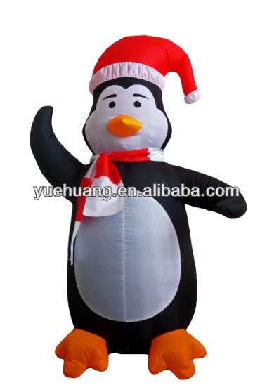 Yard inflatable airblown 4\u0027 penguin static for christmas decoration - inflatable christmas yard decorations