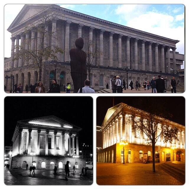 Birmingham's Town Hall By Day And By Night