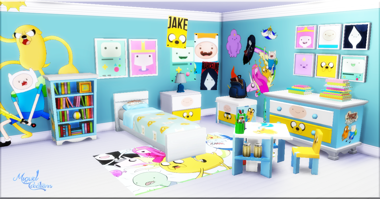 Miguel Creations TS4: Bedroom - Adventure Time | The Sims ...