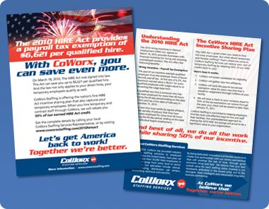 Marketing Collateral For Staffing Coworx Marketing Collateral Marketing Marketing Design