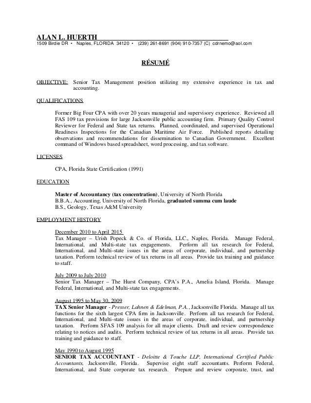 senior tax manager resume , Tax Manager Resume , Becoming a tax ...