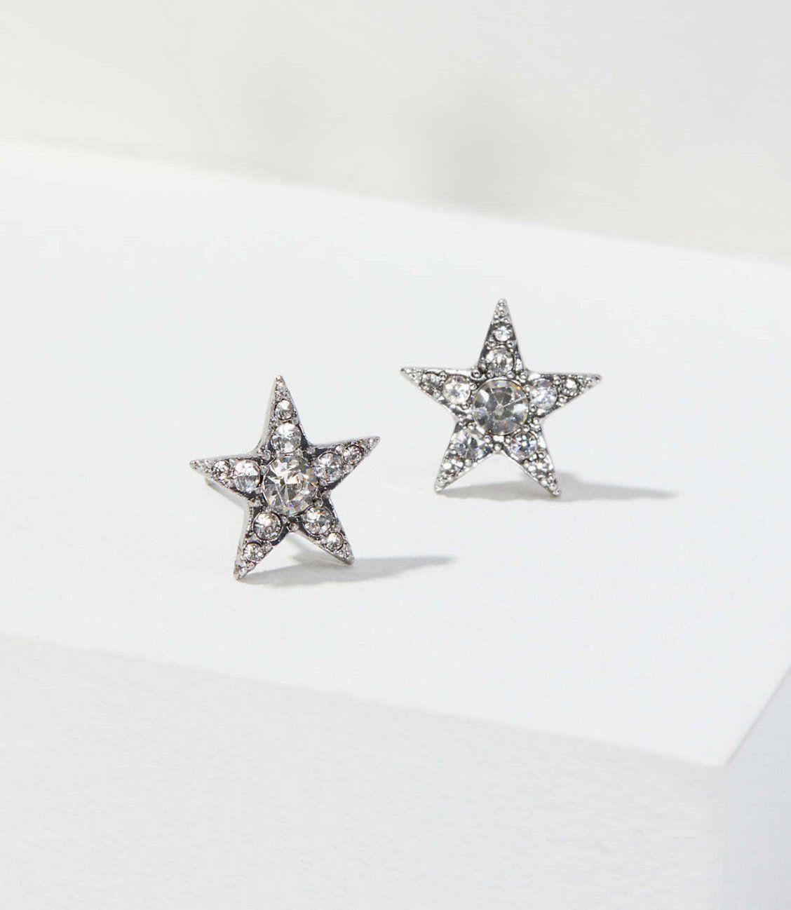 18K White Gold Filled Earrings Topaz Overlapping Heart Gemstone Ear Stud Women