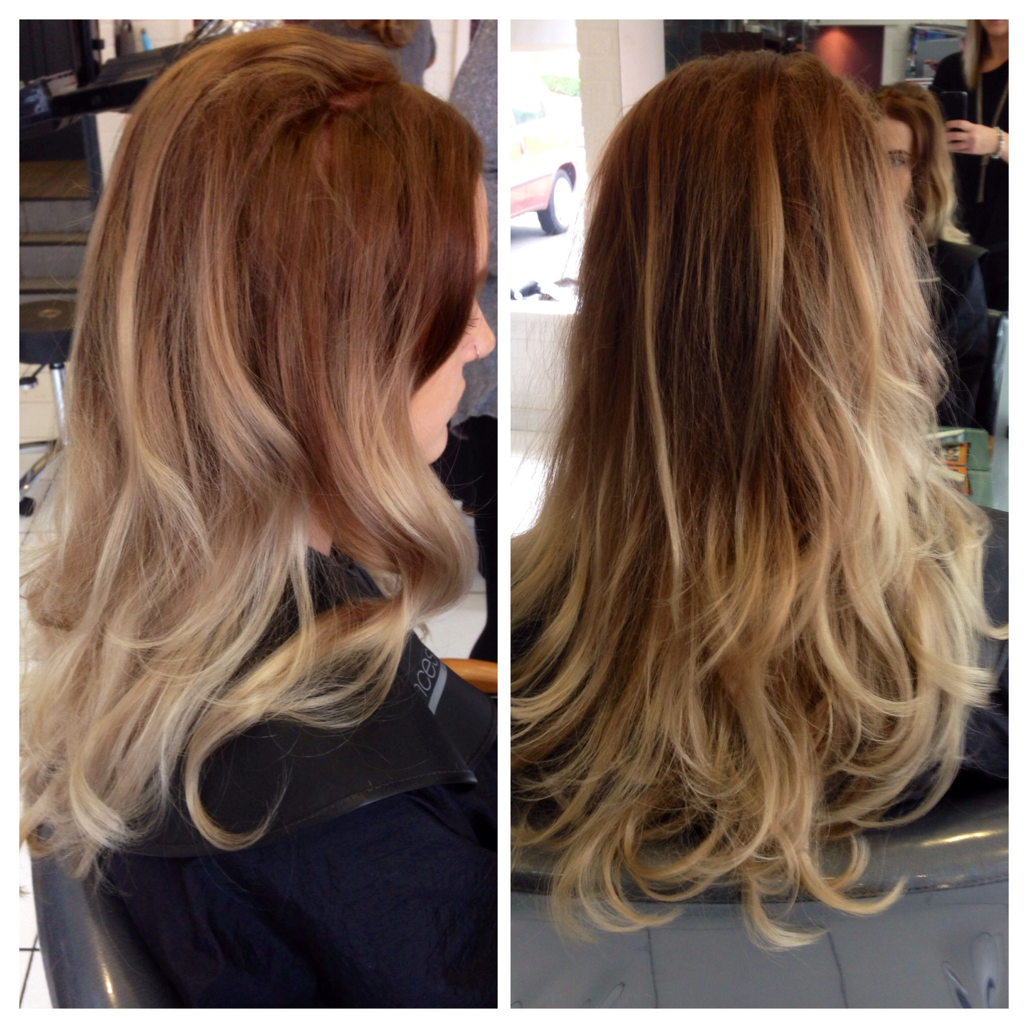 Beautiful Colour Created with Wella Koleston Innosence. Ombre Balayage  curls beautiful hair