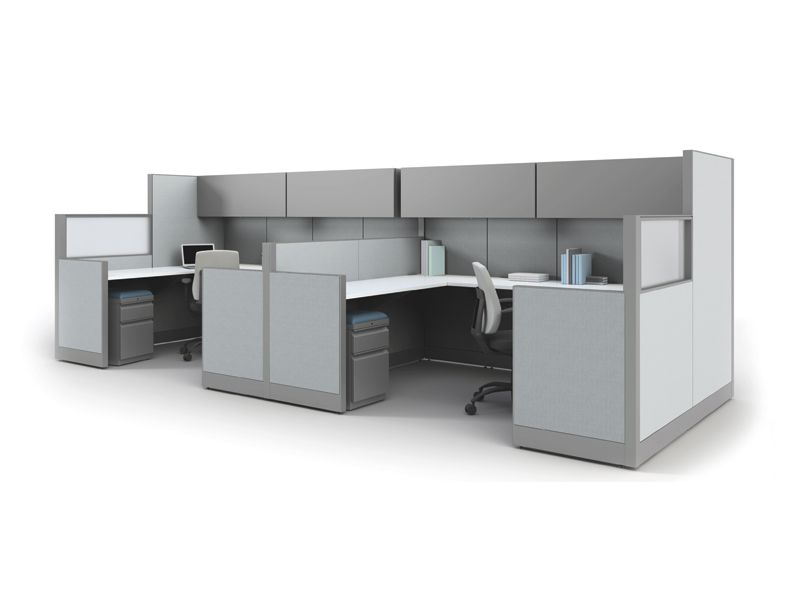Office Workstations With Mid Size Cubicles Direct