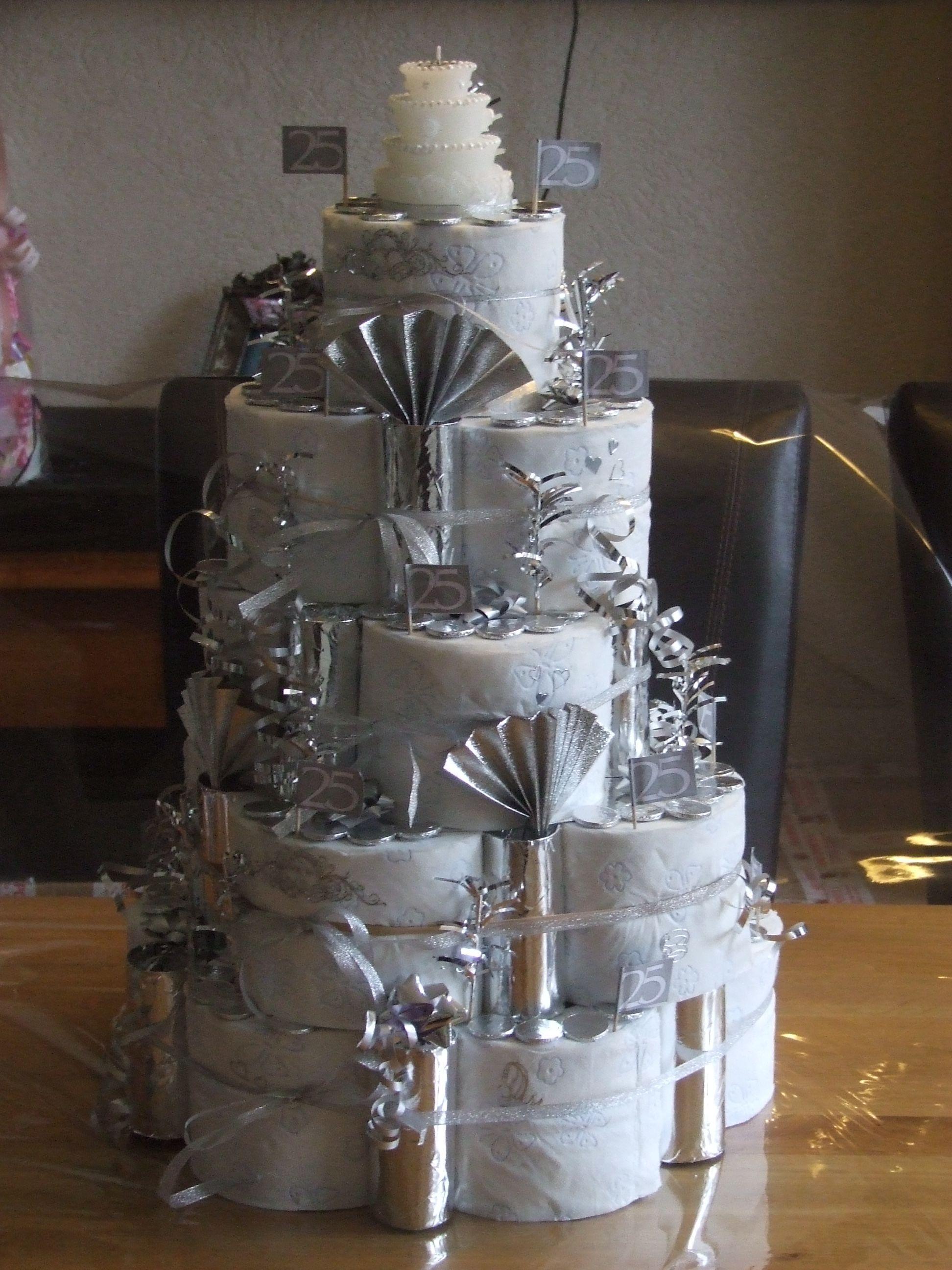 Zilveren bruiloft geldcadeautjes pinterest