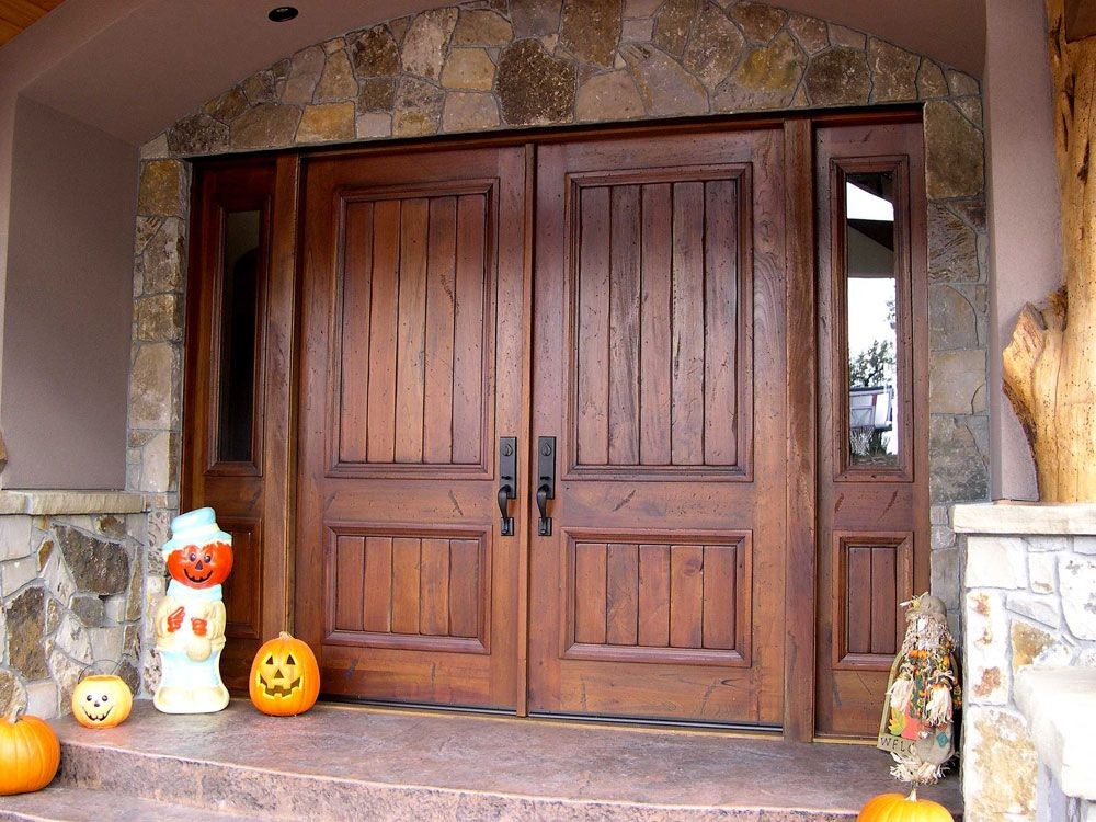 Various Home Entry Door Options Double Rustic Exterior Entrance Door With  Inspirations Double Entry Wood Doors