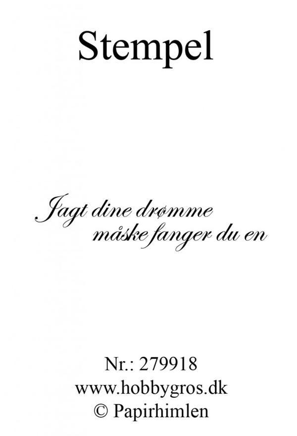 citater om drømme Clearstamp   Dansk Citat / Jagt dine drømme | Danske citater  citater om drømme