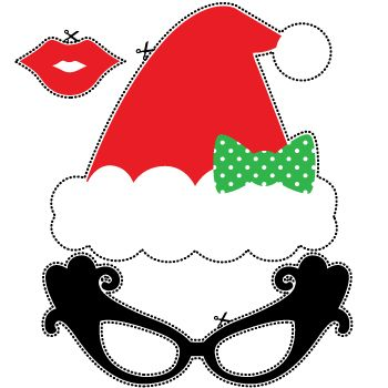 christmas photo booth props free printables