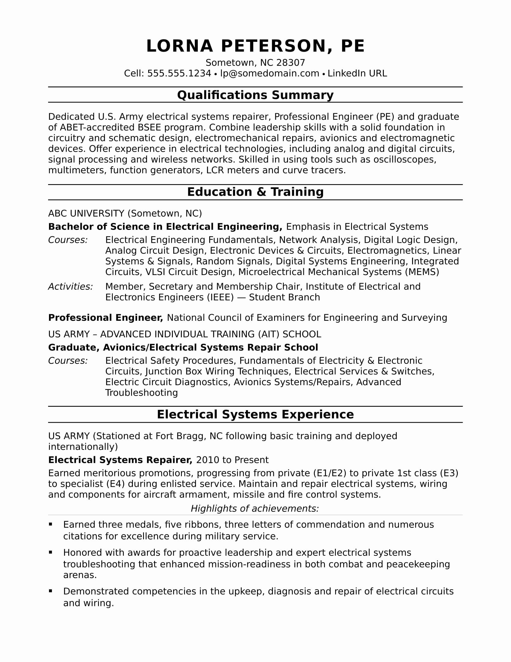 Electrical Engineering Resume No Experience Printable Resume Template Engineering Resume Student Resume Template Student Resume