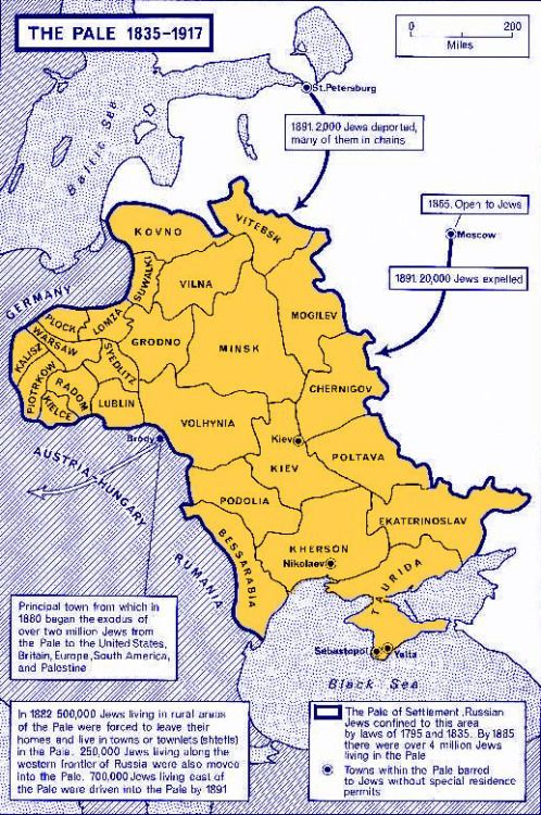 Tsarist Russia Map.The Pale Of Settlement A Region In Western Imperial Russia Where
