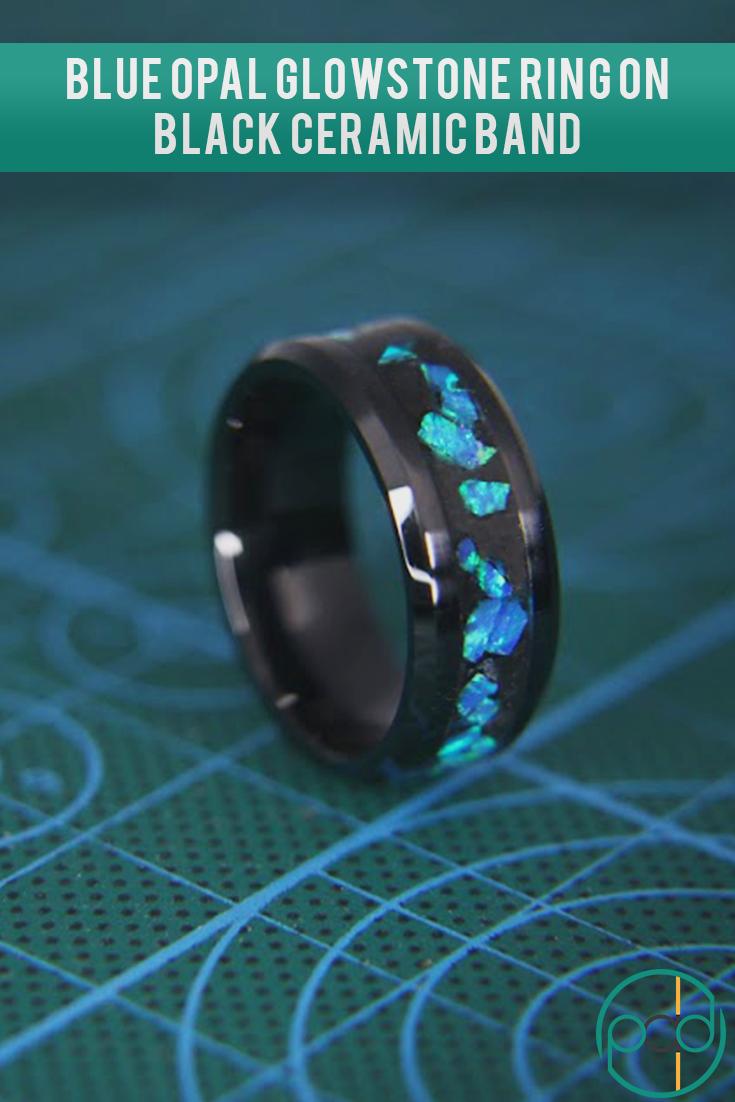 Premium Opal Glowstone Ring in 2020 Custom wedding rings