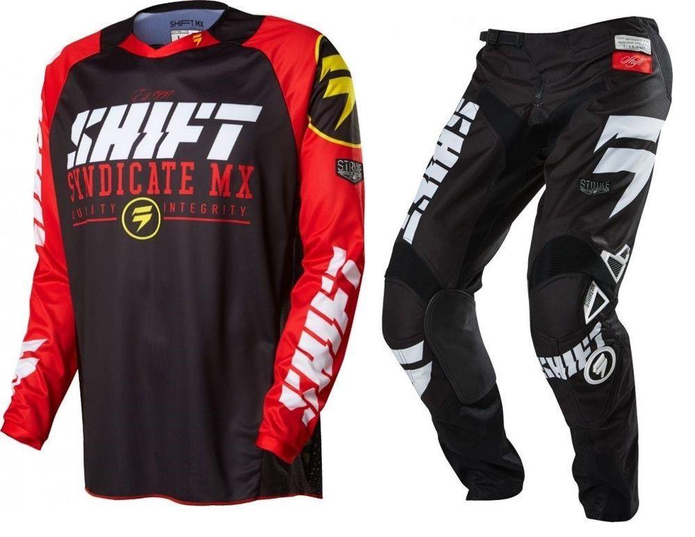 New 2016 Shift Racing Strike Mx Dirt Bike Motocross Gear Combo
