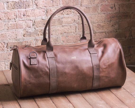 791773bba PREMIUM Leather Weekender Mens Weekend Bag Leather Duffel Bag Mens Travel  Bag Gym Duffel Outdoors Ba
