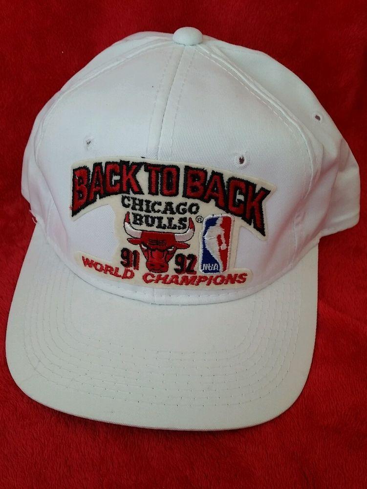b6b9a46ae28 VIntage NBA Chicago Bulls Snap Back 1991-1992 Back to Back World Champions   SportsSpecialties  BallCap