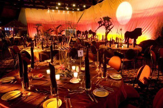 Safari Party Theme Decorations African Wedding Ideas
