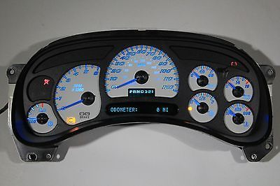 SS Style LED Edition White Gauge Face for 2006 2007 Classic Edition GM Clusters
