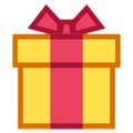 Wrapped Present Emoji Icons Party Presents Wrap