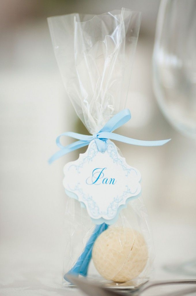 Chocolate Golf Ball And Custom Tee Wedding Favours Beautifully Shot By Christina Childress Brosnan
