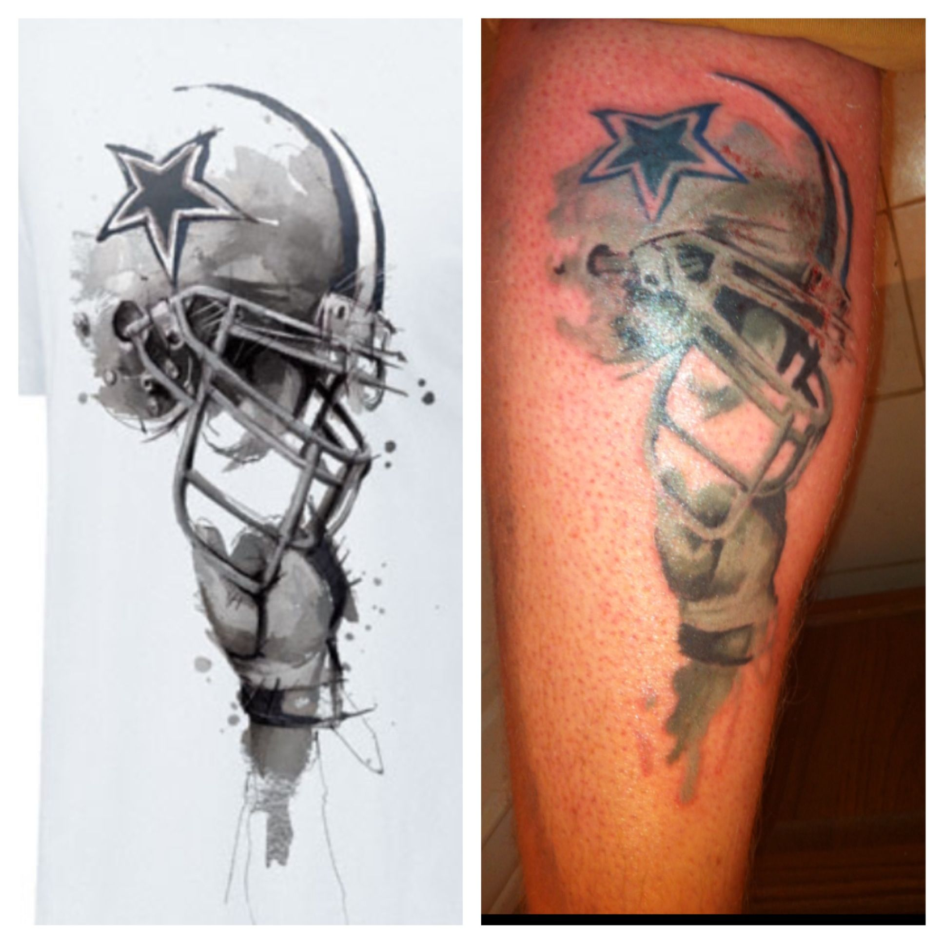 my dallas cowboys tattoo that 39 s pretty freakin cool my boyfriend pinterest dallas. Black Bedroom Furniture Sets. Home Design Ideas
