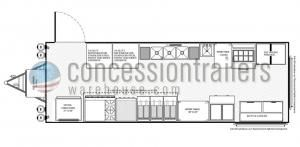 8x24 Concession Trailers - Floor Plan