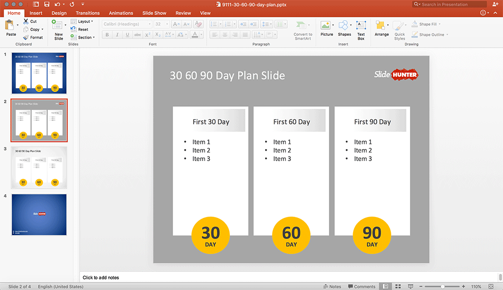 Free    Day Plan Template For Powerpoint With  Columns  G