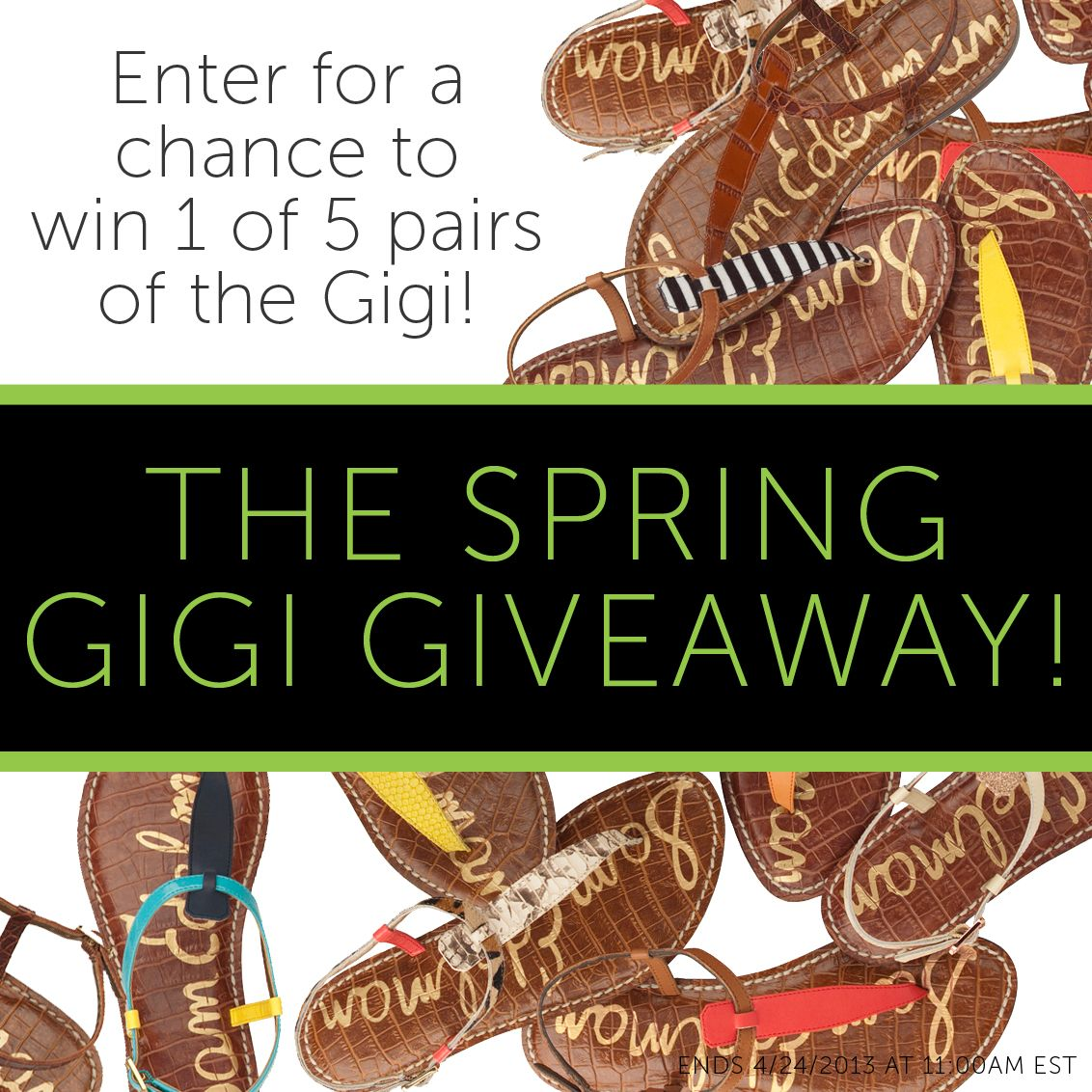Sam Edelman SPRING GIGI GIVEAWAY! Enter here to win 1 of 5 pairs!