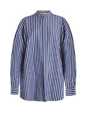 Oversized striped cotton shirtdress A.W.A.K.E. Low Price Free Shipping Fake TdbSzapG