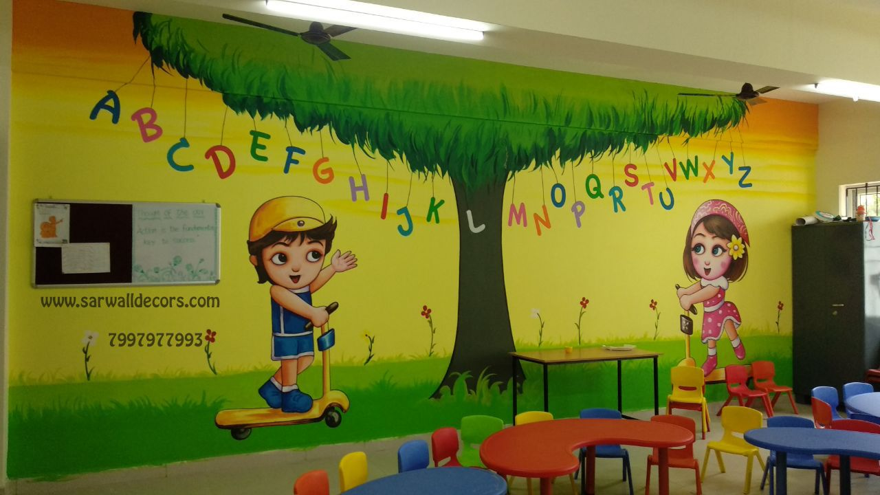 Playschoolpating Artpainting Wallpainting Wallpapers