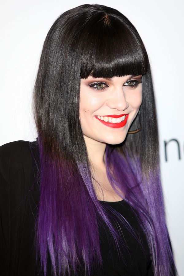 Celebrity Purple Hair Photos Singers Actresses With Images