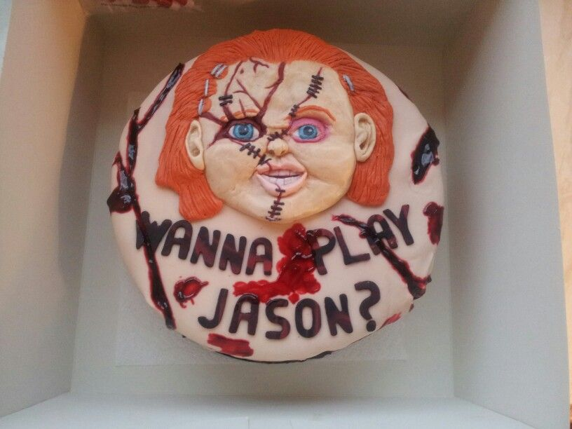 Awesome Childs Play Chucky Cake I Did For One Of My Very Good Friends Funny Birthday Cards Online Sheoxdamsfinfo