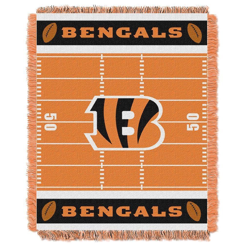 Cincinnati Bengals NFL Triple Woven Jacquard Throw (Field Baby Series) (36x48)