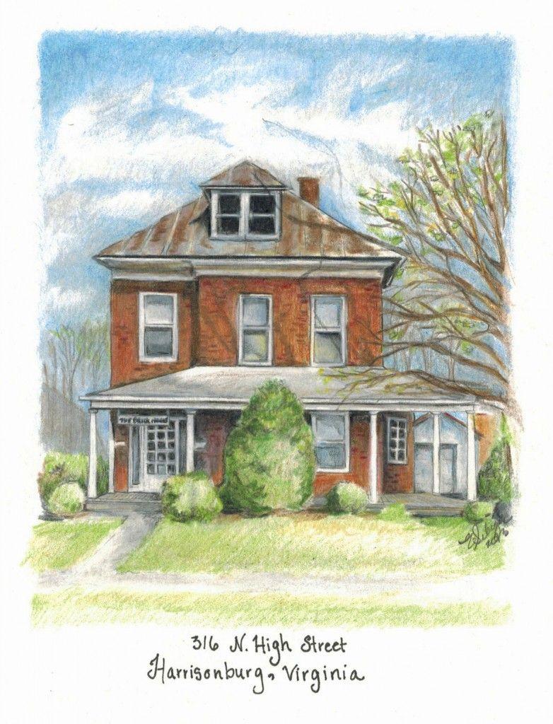 House Portraits, Portrait, Color Pencil
