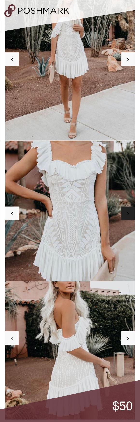 Vici Dolls Bouquet Toss Dress White Vici Dolls Bouquet Toss Lace Off The Shoulder Pleated Ruffle Dress Size Large New W Dresses Vici Dress Clothes Design [ 1740 x 580 Pixel ]
