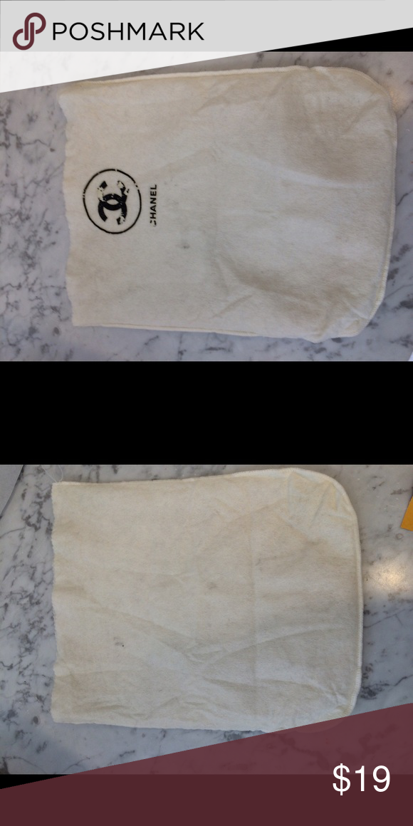 f8c1d9cff3a2 Authentic Chanel vintage dust bag Shows wear on logo CHANEL Accessories