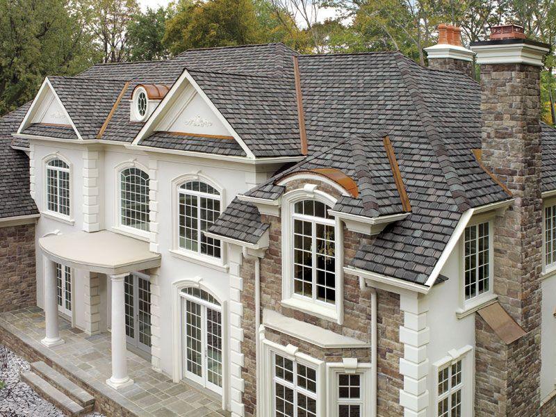 Williamsburg Slate Gaf Designer Roof Shingles Home