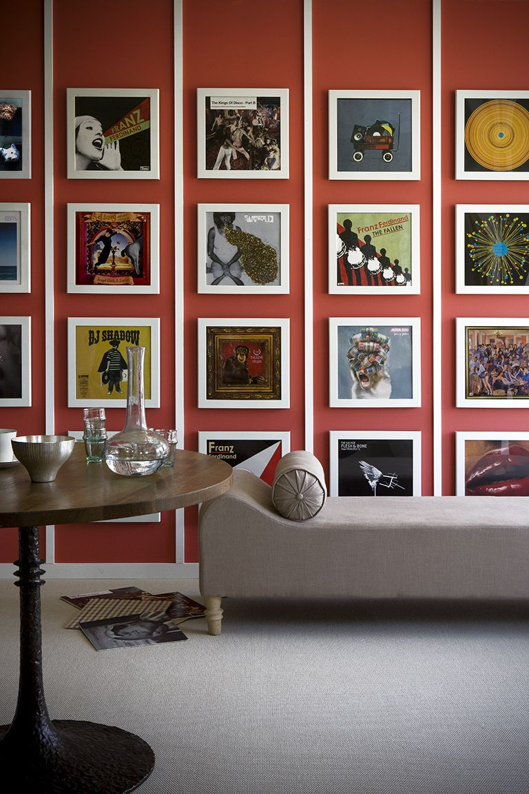 record covers, orange wall - This image belongs to PAUL RAESIDE and ...