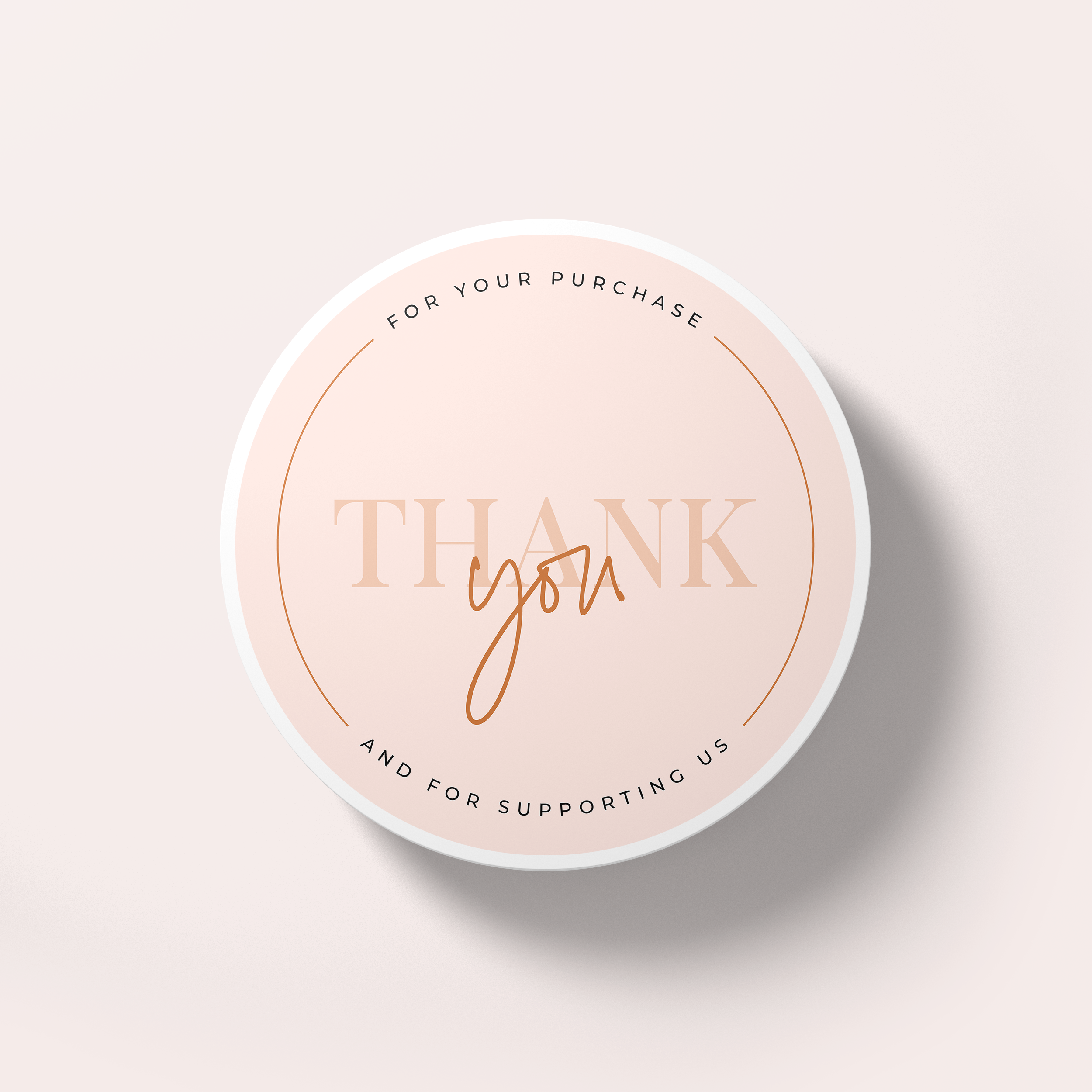 Printable Thank You Sticker Minimalist Design Round Thank You Label For Small Business In 2021 Thank You Card Design Thank You Stickers Print Stickers