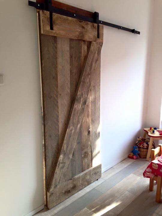 Iets Nieuws Bilderesultat for steigerhout schuifdeur | Gode ideer - Home Decor #XU24